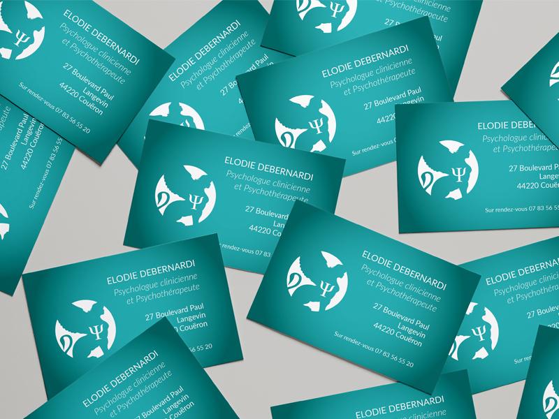Psychologue – Logo et carte de visite