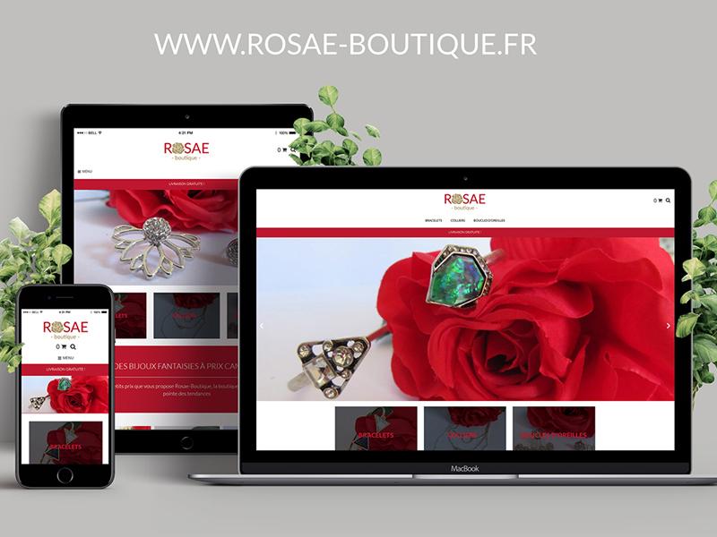 Rosae Boutique – Site e-commerce