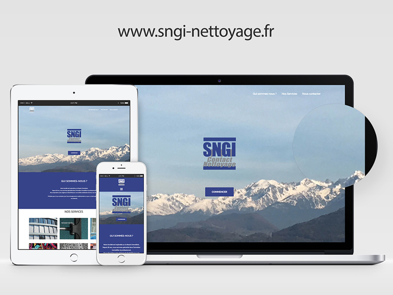SNGI – Site vitrine
